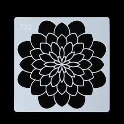 13 x 13cm Reusable Stencil - Dahlia (1pc)