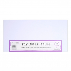 Dovecraft Essentials Cards & Envelopes 50 pack 6 x 6 - White (DCBS198)