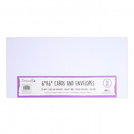 Dovecraft Essentials Cards & Envelopes 50 pack 6 x 6 - White
