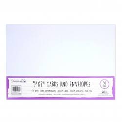 "Dovecraft Essentials Cards & Envelopes 50 pack 5 x 7"" - White (DCBS199)"