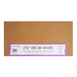 Dovecraft Essentials Cards & Envelopes 50 pack 6 x 6 - Kraft (DCBS200)