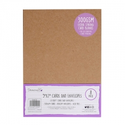 "Dovecraft 8 Kraft 300gsm 7""x5"" Cards & Envelopes (DCBS197)"