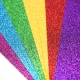 """12x12"""" Double-sided Glitter Bumper pack - Rainbows (DCGCD044)"""