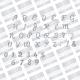 First Edition Die - Alphabet (FEDIE293)