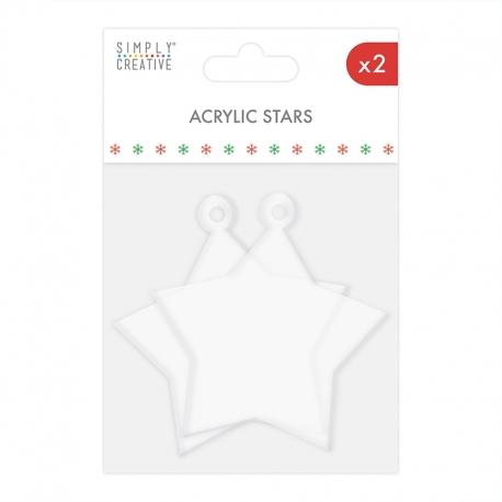Simply Creative Christmas Acrylic Stars (SCTOP079X20)