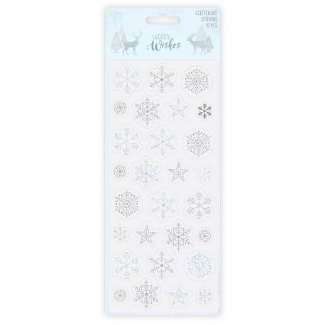 Hobbycraft Glitter Dot Stickers - Snowflakes (HCFZW061)