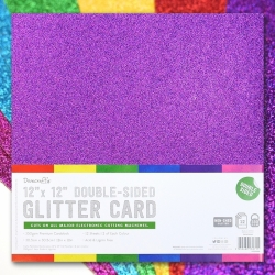 "12x12"" Double-sided Glitter Bumper pack - Rainbows (DCGCD044)"