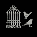 Printable Heaven die - Birdcage & Birds (3pcs)