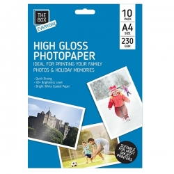 A4 High Gloss Photo Paper - 10 Sheets (STA0339)