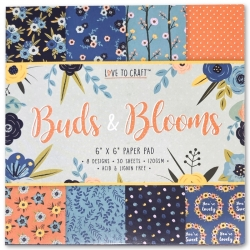 Love to Craft 6x6 Paper Pad - Buds & Blooms (LCPAP001)