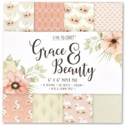 Love to Craft 6x6 Paper Pad - Grace & Beauty (LCPAP001)