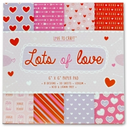 Love to Craft 6x6 Paper Pad - Lots of Love (LCPAP001)