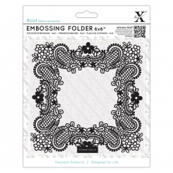 "6 x 6"" Xcut Embossing Folder - Ornate Frame (XCU 515209)"
