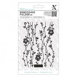 A6 Xcut Embossing Folder - Blossom Vines (XCU 515232)