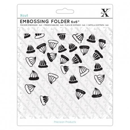 "6 x 6"" Xcut Embossing Folder - Sweet Treats Iced Gems (XCU"