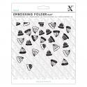 "6 x 6"" Xcut Embossing Folder - Sweet Treats Iced Gems (XCU 515239)"