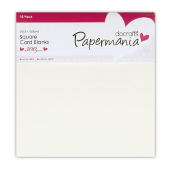 Papermania Square Cards/Envelopes 13.5 x 13.5cm (10pk 300gsm) -