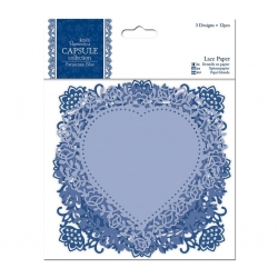 Lace Paper (12pcs) - Parisienne Blue (PMA 160701)