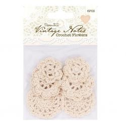 Crochet Flowers (6pcs) - Vintage Notes (PMA 368500)