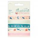 Printed Ribbon (5x1m) - Bluebirds & Roses (PMA 367508)
