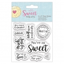 4 x 4'' Clear Stamp - Sweet Treats, Sentiments (PMA 907267)
