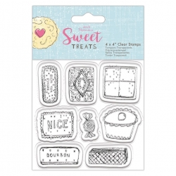 4 x 4'' Clear Stamp - Sweet Treats, Biscuits & Cakes (PMA