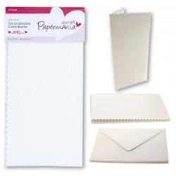Papermania Tall Scalloped Cards/Envelopes (12pk 300gsm) - White