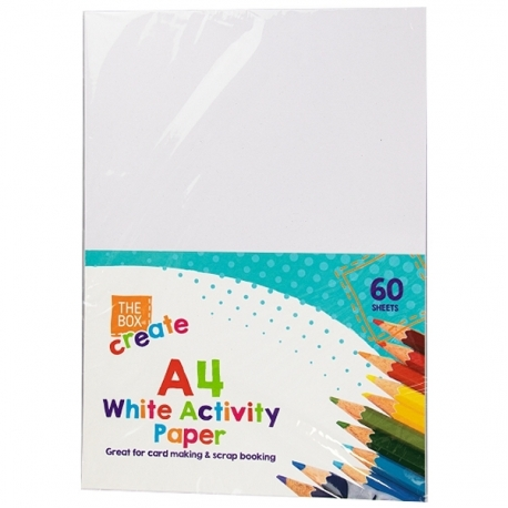 A4 White Activity Paper 60 Sheets (STA9085)