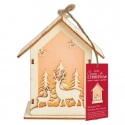 Wooden LED Shadow-box House - 2 Stags (PMA 174953)