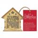 Wooden Mini LED Shadow-box House - Noel (PMA 174965)