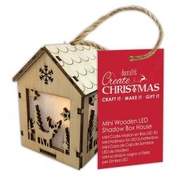 Wooden Mini LED Shadow-box House - Winter Stag (PMA 174969)
