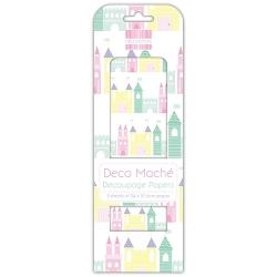 First Edition Deco Mache - Princess Castles (FEDEC321)