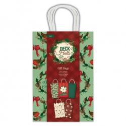 Gift Bags, 5pcs - Deck the Halls (PMA 174986)
