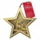 Wooden LED Star, 2 Stags (PMA 105990)