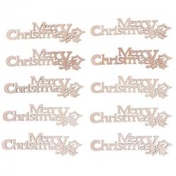 Wooden Merry Christmas (10pcs)