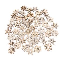 Wooden Snowflakes (50pcs)