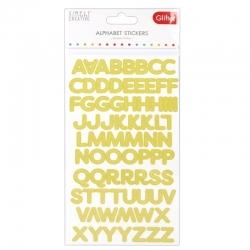 Simply Creative Glitter Alphabet Stickers - Gold (SCSTR007)