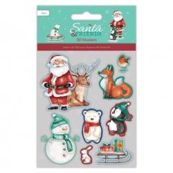 3D Stickers - Santa & Friends (PMA 801905)