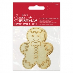 Etched Wooden Shapes - Gingerbread (PMA 359939)