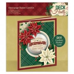 Decoupage Shaker Card Kit - Deck the Halls (PMA 169964)