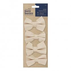 Large Canvas Bows 4pcs - Cream (PMA 174503)