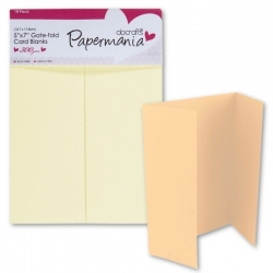 Papermania 5 x 7 Gatefold Cards/Envs (10pk 300gsm) - Cream (PMA 150404)