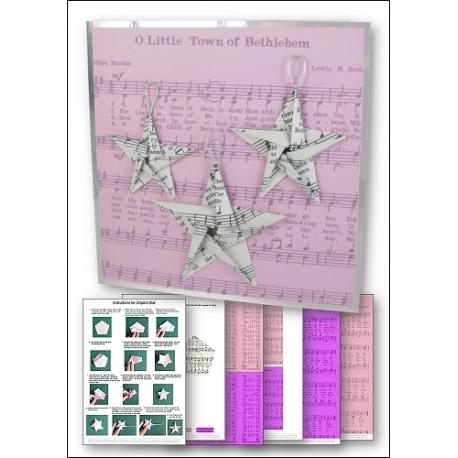 Download - Card Kit - Music Origami Stars