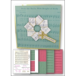 Download - Card Kit - Music Origami Wreath