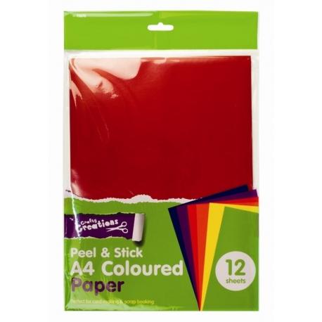 A4 Adhesive Craft Paper - Coloured (U-83457)