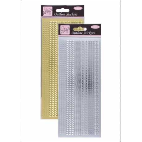 Anita's Peel-offs - Assorted Borders Gold & Silver (ANT