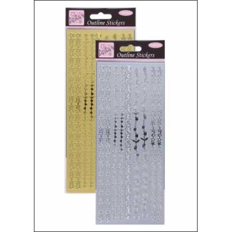 Anita's Peel-offs - Floral Borders Gold & Silver (ANT 8101020/1)