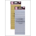 Anita's Peel-offs - Large Numbers Gold & Silver (ANT 8101008/9)