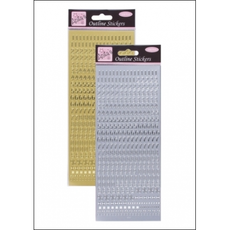 Anita's Peel-offs - Small Numbers Gold & Silver (ANT 8101010/11)