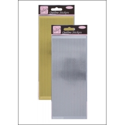 Anita's Peel-offs - Straight Line Borders Gold & Silver (ANT 8101016/7)